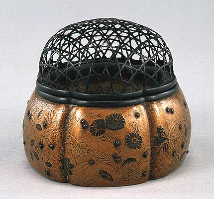 Japan Lacquer Vegetal : Pumpkin Incense burner
