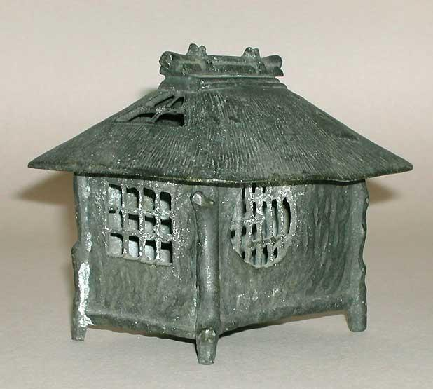 Japan Bronze Building Incense burner