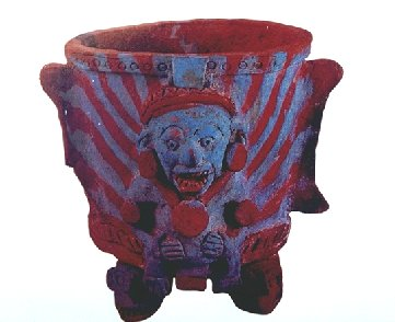 Guatemala Ceramic Bowl : Human Incense burner