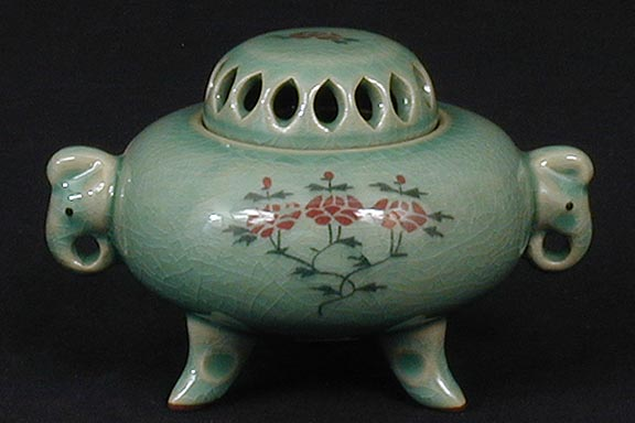 Korea Ceramic Pot : Elephant Incense burner