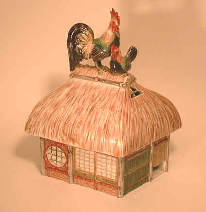 Japan Porcelain Building Incense burner