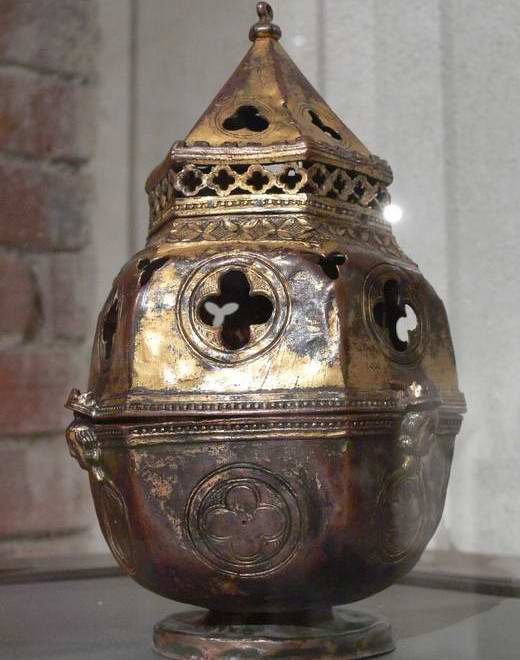 France Copper Bowl Incense burner