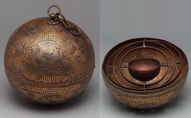 Syria Brass Sphere Incense burner