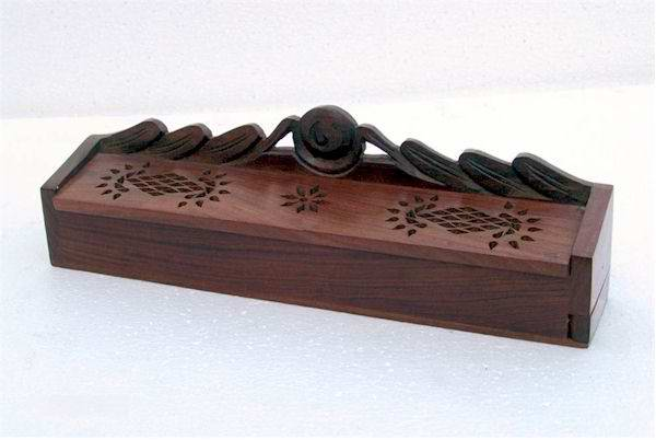 India Wood Box Incense burner