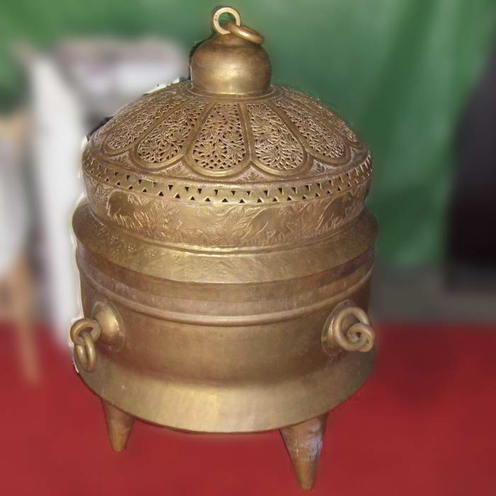 Asia Brass Pot : Elephant Incense burner