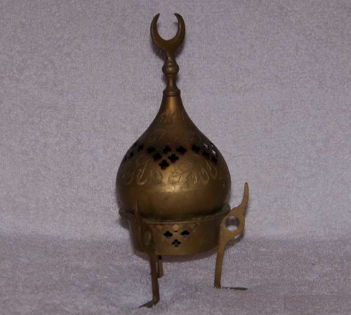 Oriental Brass Dome Incense burner