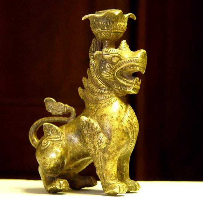 Bronze Animal : Lion Incense burner