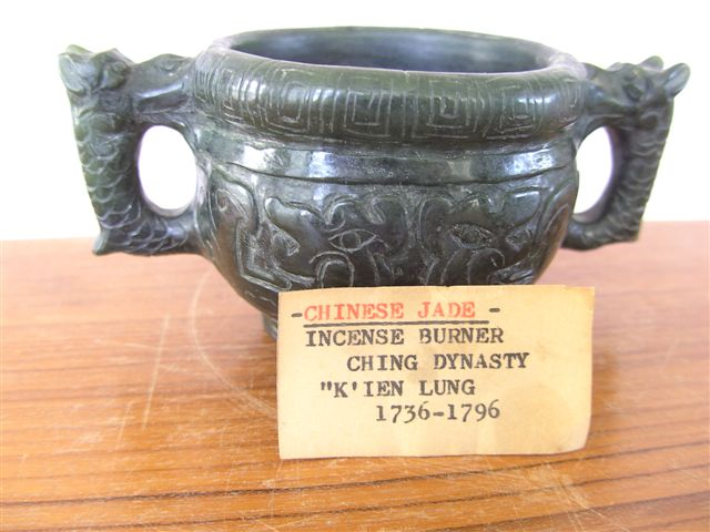 China Jade Bowl Incense burner