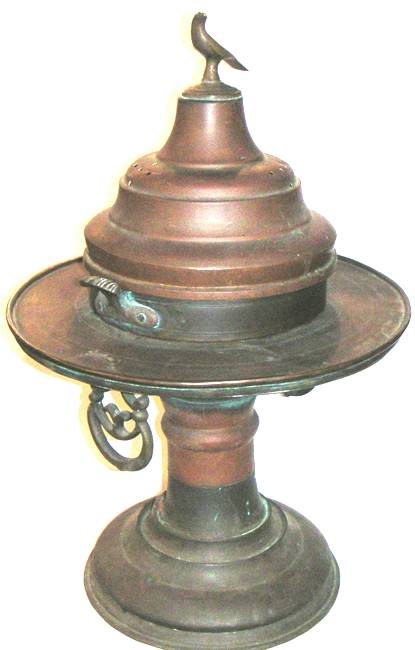 Oriental Brass Brazier : Bird Incense burner