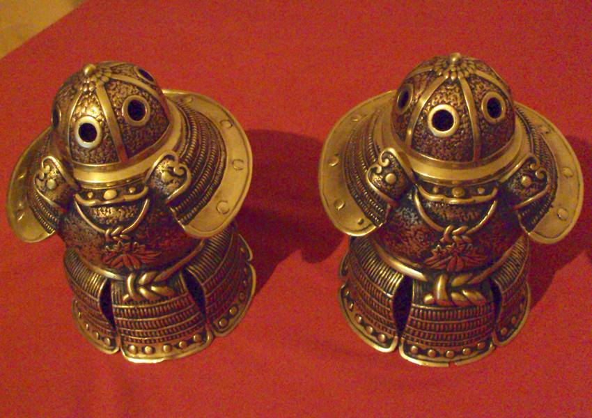 Japan Brass Helmet Incense burner