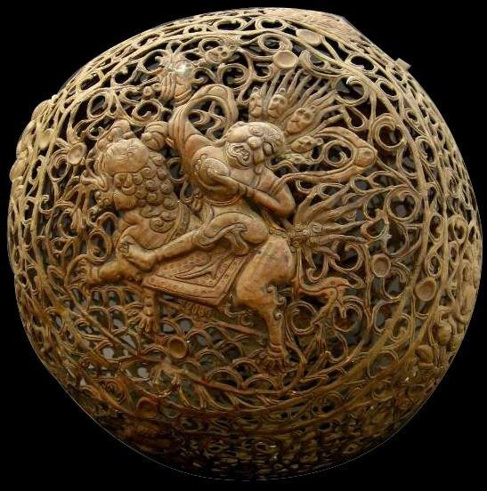 Mongolia Copper Sphere Incense burner
