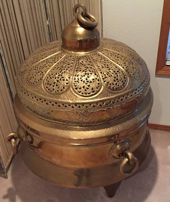 Oriental Brass Brazier Incense burner